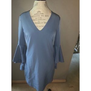 Periwinkle Milly Dress With Ruffle Sleeves Size 8